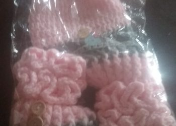 100% COTTON CROCHET BABY SHOES AND BOOTIES WITH CAP