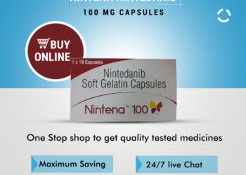 Nintena 100mg Price – Sun Pharma Nintedanib Capsules Buy Online